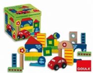 Goula Wooden Construction Pack & Car